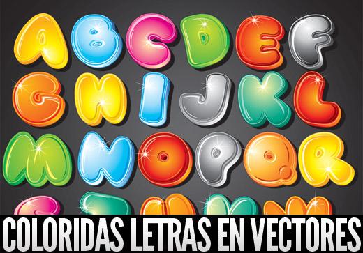 Coloridas letras vectoriales